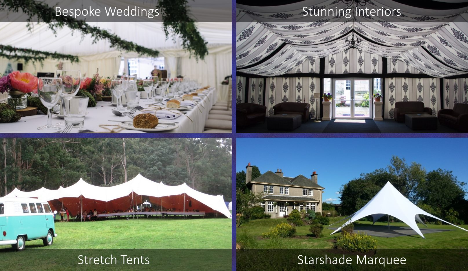 Various marquee types