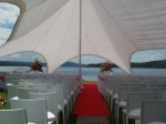 Starshade marquee set up for a wedding ceremony #2