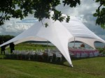 Starshade marquee set up for a wedding