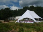 Starshade marquee set up for a wedding ceremony #4