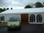 Clearspan marquee with double doors