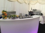 Cocktail bar setup