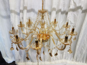 Ornate glass chandelier