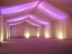 White linings with pink lighting
