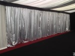 Marquee interior with silver wall linings