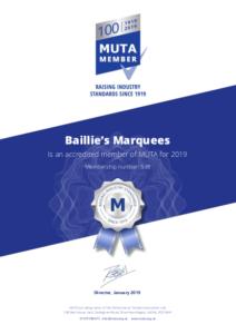 MUTA membership 2019