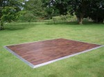 Outdoor wooden dance floor