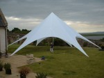 Starshade marquee in a garden