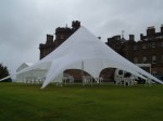 Starshade marquee set up for a wedding reception