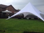 Starshade and wee marquee in garden