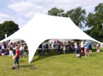 Starshade marquee at a Gala Day