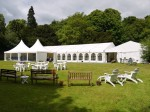 Wedding marquee with reception area