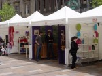 Wee marquees set up as 3m x 3m stalls #2