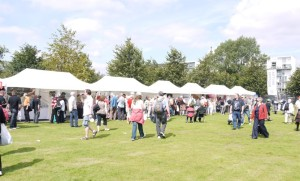 Wee marquees set up as 6m x 3m stalls